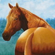 Copper Bottom - Quarter Horse Art Print