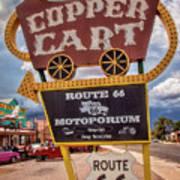 Copper Cart Art Print