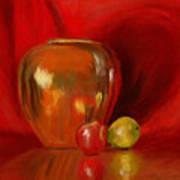 Copper Pot And Fruit Art Print
