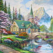 copy of Dogwood Chapel Art Print