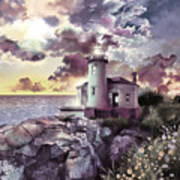 Coquille River Lighthouse 2 Art Print