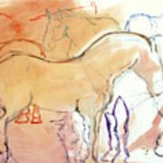 Coral Horses Art Print