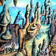 Coral Island, Stone City Of Alien Civilization Art Print