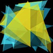 Coral Reef Polygon Pattern Art Print