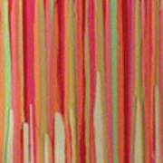 Coral Stripe  Art Print