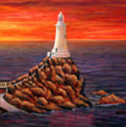 Corbiere Lighthouse - Jersey Art Print