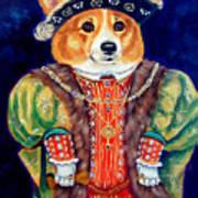 Corgi King Art Print