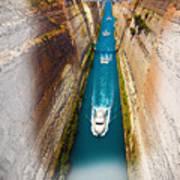 Corinth Canal  Art Print