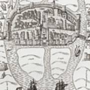 Cork, County Cork, Ireland In 1633 Art Print