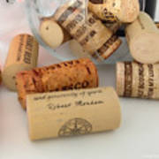 Corks Print by Cheryl Young
