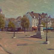 Corner Bosch Street And Market Maastricht Art Print