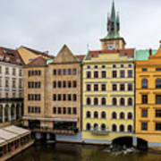 Corner Buildings In Prague Art Print