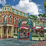 Corner Cafe Main Street Disneyland 01 Art Print