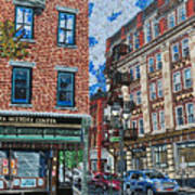 Corner Of Dietz And Main Oneonta Ny Art Print