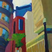 Corner Of Oliver Street, Boston Art Print