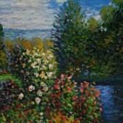 Corner Of The Garden At Montgeron Art Print