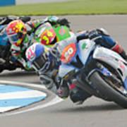 Cornering Motorcycle Racers Art Print
