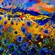 Cornflowers 746 Art Print