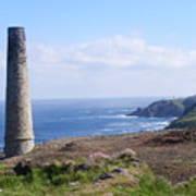 Cornish Mine Art Print