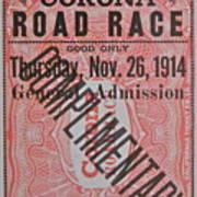 Corona Road Race 1914 Art Print