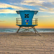 Coronado Beach Lifeguard Tower At Sunset Art Print
