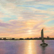 Coronado Bridge Sunset  B Art Print