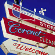 Coronet Cleaners Art Print