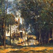 Corot - The Mill Art Print