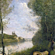 Corot: Cathedral, C1855-60 Art Print