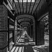 Corridor Of Brick And Stone Art Print