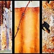 Corrugated Iron Triptych #8 Art Print