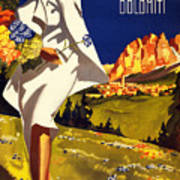Cortina Dolomiti Italy Vintage Poster Restored Art Print