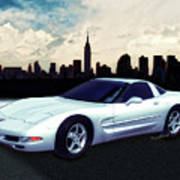 Corvette C-5 1997-2004 Art Print