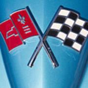 Corvette Emblem Classic Art Print