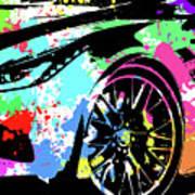 Corvette Pop Art 3 Art Print