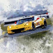 Corvette Racing Art Print