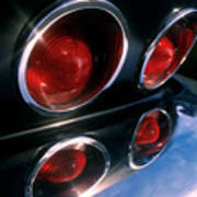 Corvette Tail Lights Art Print