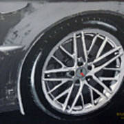 Corvette Wheel Art Print