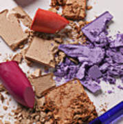 Cosmetics Mess Art Print by Garry Gay