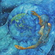 Cosmic Embrace Art Print