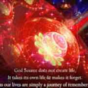 Cosmic Inspiration God Source 2 Art Print