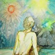 Cosmic Man Art Print