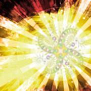 Cosmic Solar Flower Fern Flare 2 Art Print