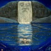 Cosmic Wizard Reflection Art Print
