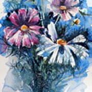 Cosmos Flowers Art Print