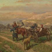 Cossak Convoy Art Print