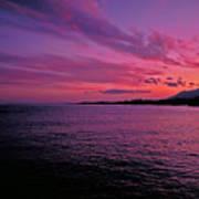 Costa Del Sol Sunset In Marbella Art Print