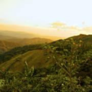 Costa Rica Rolling Hills 2 Art Print