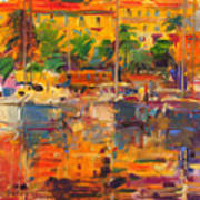 Cote D'azur Reflections Art Print