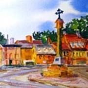 Cotswolds Town Center Art Print